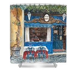 Osteria Margutta Rome Italy Shower Curtain by Anthony Butera