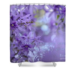 Peace Comes From Within Shower Curtain by Olga Hamilton