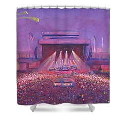 Shower Curtain featuring the painting  Phish At Dicks by David Sockrider