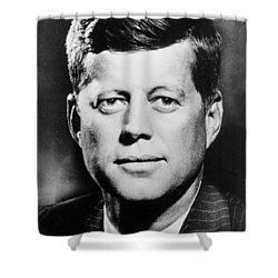 Portrait Of John F. Kennedy  Shower Curtain by American Photographer