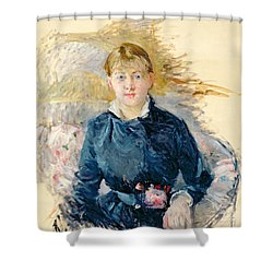 Portrait Of Louise Riesener Shower Curtain by Berthe Morisot