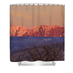Radiant Ragged Mountain Evening Co II Shower Curtain