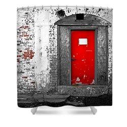 Red Door Perception Shower Curtain