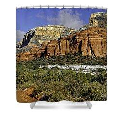 Red Rock-secret Mountain Wilderness Shower Curtain