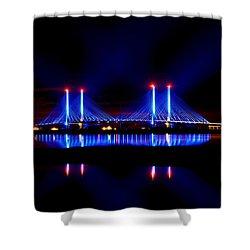 Reflecting Bridge - Indian River Inlet Bridge Shower Curtain