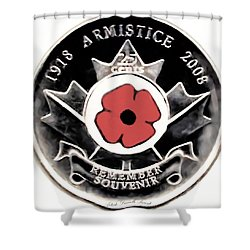 Remember Armistice Jour Du Souvenir  Shower Curtain