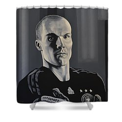 Robert Enke Shower Curtain by Paul Meijering