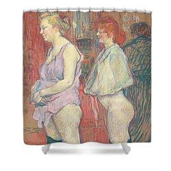Rue Des Moulins Shower Curtain by Henri de Toulouse-Lautrec