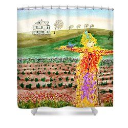 Scarecrow With Nesting Companion Shower Curtain