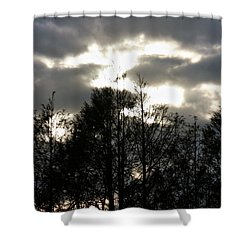 Silhouettes Toward Sunset Shower Curtain