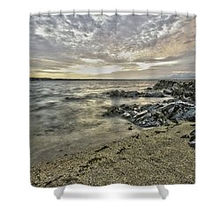 Skerries Ocean View Shower Curtain by Martina Fagan