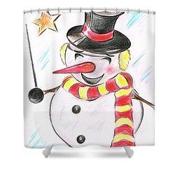 Snowmans  Stardom Shower Curtain