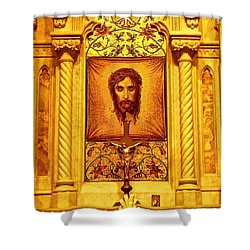 Shower Curtain featuring the photograph  St. Patrick Nyc  Altar by Joan Reese