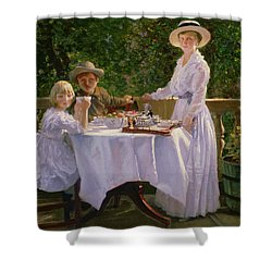 Summer Afternoon Tea Shower Curtain by Thomas Barrett