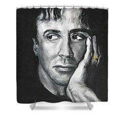 Sylvester Stallone Shower Curtain