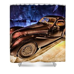 Shower Curtain featuring the photograph  Talbot Lago 1937 Car Automobile Hdr Vehicle  by Paul Fearn