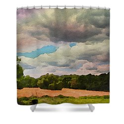 Shower Curtain featuring the painting  Tennessee Landscape by Joan Reese