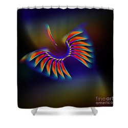 Terrestrial Flight Shower Curtain