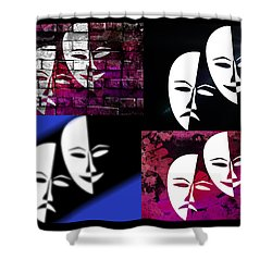 Thalia And Melpomene Shower Curtain