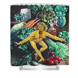 The Dancing Lemon Shower Curtain