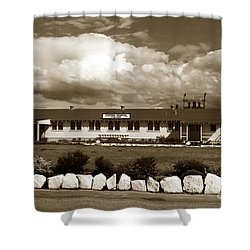 The Fort Ord Station Hospital Administration Building T-3010 Building Fort Ord Army Base Circa 1950 Shower Curtain