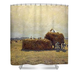 The Harvest Shower Curtain by Pierre-Georges Dieterle