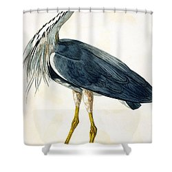 The Heron  Shower Curtain
