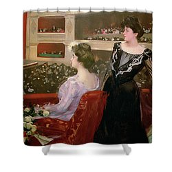The Lyceum Shower Curtain by Ramon Casas i Carbo