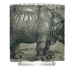 The Rhinoceros Shower Curtain by Albrecht Durer