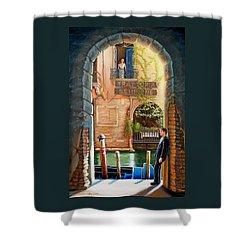 Thinking Of You Trattoria Sempione San Marco 578 Venezia Shower Curtain