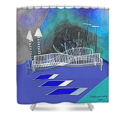 112 This Earthquake Feeling   Shower Curtain by Irmgard Schoendorf Welch