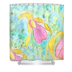 Three Pink Ladies  Shower Curtain