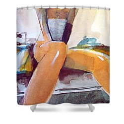 Tommie Copper  Shower Curtain by Ed  Heaton