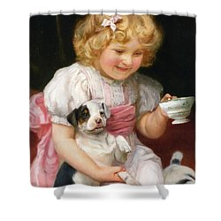 Too Hot Detail Shower Curtain by Arthur John Elsley