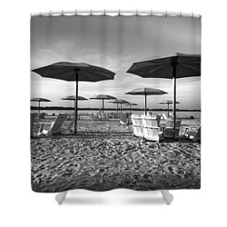 Umbrellas On The Beach Shower Curtain
