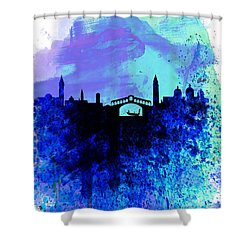 Venice Watercolor Skyline Shower Curtain by Naxart Studio