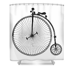 Shower Curtain featuring the digital art  Vintage Bicycle by Marvin Blaine