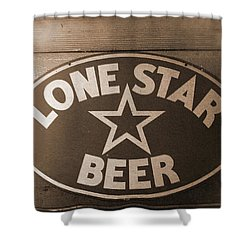 Vintage Sign Lone Star Beer Shower Curtain