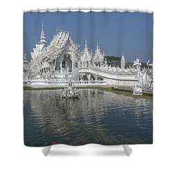 Wat Rong Khun Ubosot Dthcr0001 Shower Curtain