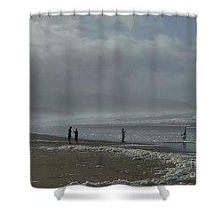 Wave Handstand  Shower Curtain by Susan Garren