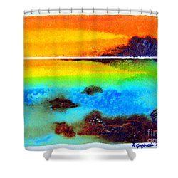 Western Australia Ocean Sunset Shower Curtain