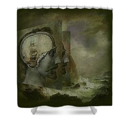 When A Man's Thoughts Turn Toward The Sea Shower Curtain
