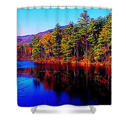 White Mountians National Park Red Eagle Pond New Hampshire Shower Curtain