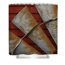 Windfan Leaning Shower Curtain by Randy Pollard
