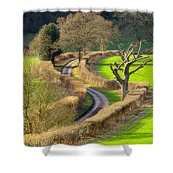 Winding Country Lane Shower Curtain