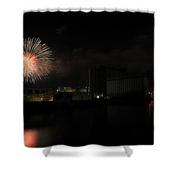 0015 ...the Bombs Bursting In Air...4jul13 Series Shower Curtain by Michael Frank Jr