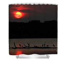 0016 White Rock Lake Dallas Texas Shower Curtain