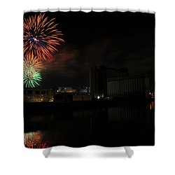 0020 ...the Bombs Bursting In Air...4jul13 Series Shower Curtain by Michael Frank Jr