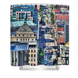 0024 Visual Highs Of The Queen City ...main St... Shower Curtain