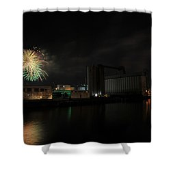 005 ...the Bombs Bursting In Air...4jul13 Series Shower Curtain by Michael Frank Jr